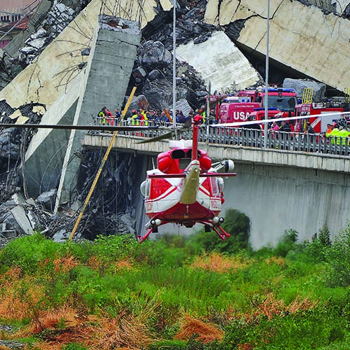 The Morandi Bridge collapse*Luigi D'Angelo describes the operational search and rescue efforts after a bridge collapsed in Genoa, plunging vehicles to the ground and killing dozens of people