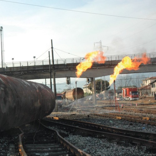 Viareggio rail accident*In the early hours of one morning, fire officers from Viareggio were confronted by a devastating derailment and massive fire, as Chief Giuseppe Romano explains