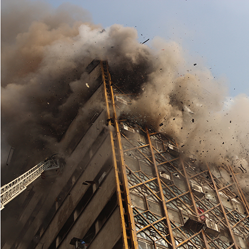High-rise tragedy in Iran*As a firefighter, there are few things worse and more moving than losing your fellow firefighters and colleagues while battling a blaze and rescuing people on the fireground, writes Navid Bayat